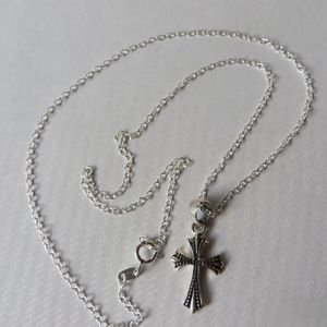 Jewelry - NEW- Sterling Silver Cross Pendant Necklace